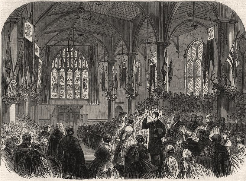 Associate Product His Royal Highness unveiling the Prince Consort Memorial Window, Guildhall, 1866