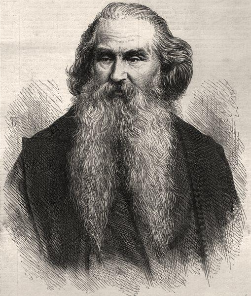Associate Product The late Mr. J. B. Pyne, landscape painter. Portraits, antique print, 1870