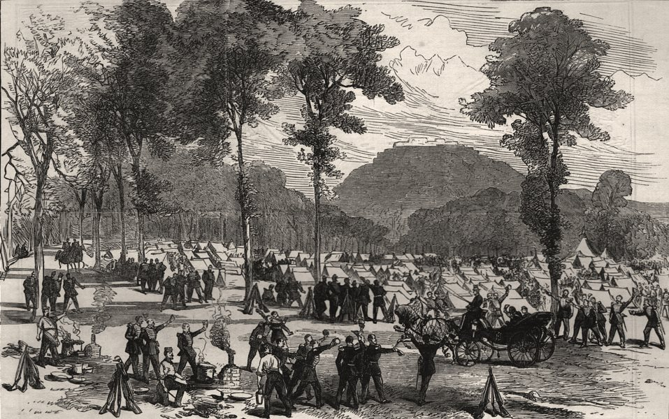 Associate Product The war: the Emperor visiting the camp of Voltigeurs of the guard, at Metz, 1870
