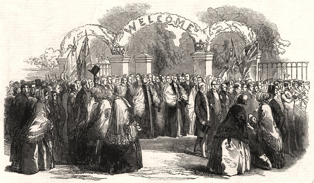 Associate Product Founding of the new school at Loughborough: the procession. Leicestershire, 1850