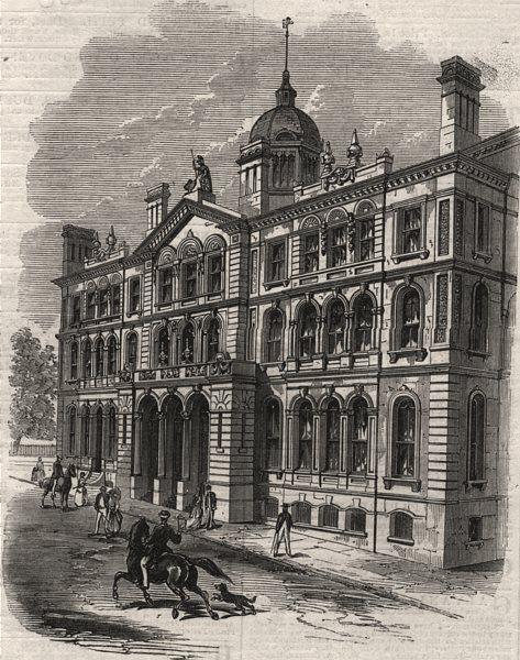 Associate Product New Provincial Buildings, Halifax, Nova Scotia. Canada, antique print, 1869