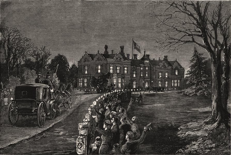 Associate Product Prince of Wales at Bradgate Hall, Leicester. Earl Of Stamford & Warrington, 1882