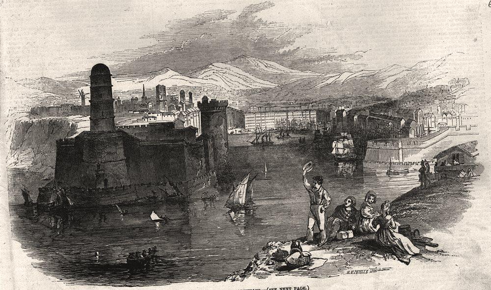 Associate Product Foreign corn ports - Marseilles. Bouches-du-Rhône, antique print, 1846