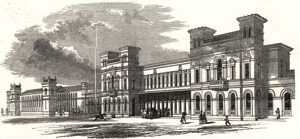 Associate Product The Chester and Holyhead Railway. The general station at Chester. Cheshire, 1848