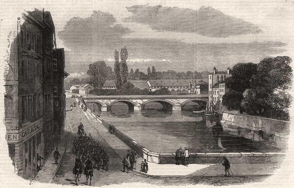 Associate Product The arsenal at Metz. Moselle, antique print, 1870