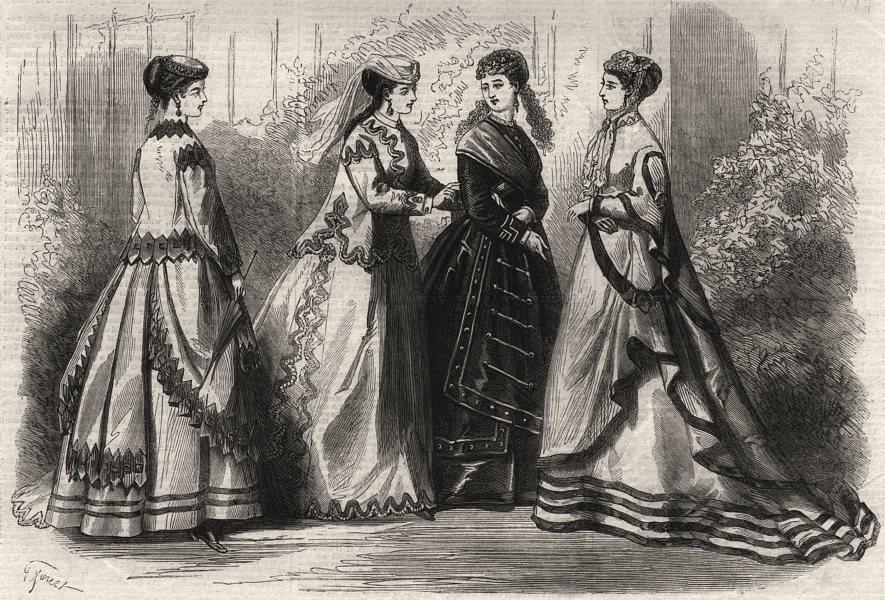 Associate Product Paris fashion for September, antique print, 1867