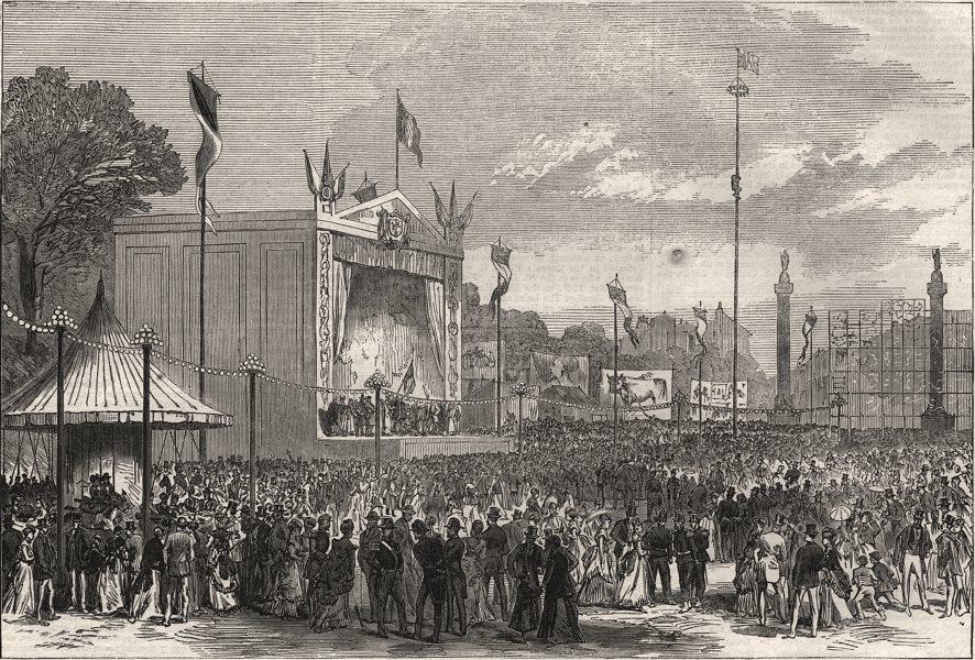 Associate Product The Napoleon Centenary fetes at Paris. The Barriere du Trone. Paris, print, 1869