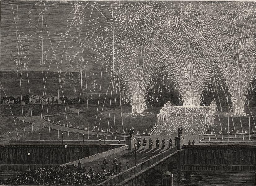 Associate Product The Napoleon Centenary fetes at Paris. Fireworks at the Trocadero. Paris, 1869