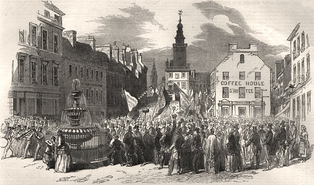 Associate Product Grand procession of the Gorbals Temperance Society, at Dumfries. Scotland, 1852