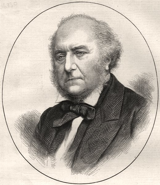 Associate Product The late Lord Westbury, ex-Lord Chancellor. Portraits, antique print, 1873