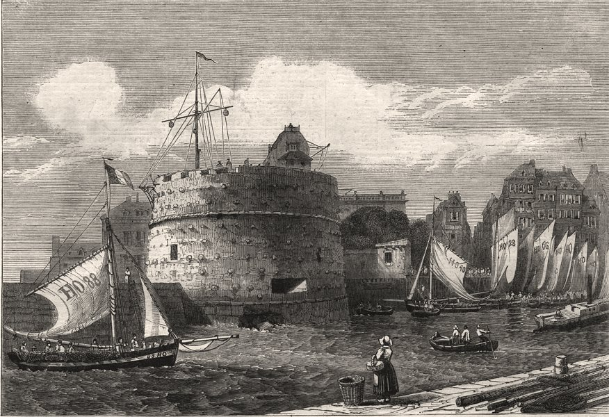 Associate Product Tower of Francis I, Le Havre, in course of demolition. Seine-Maritime, 1861