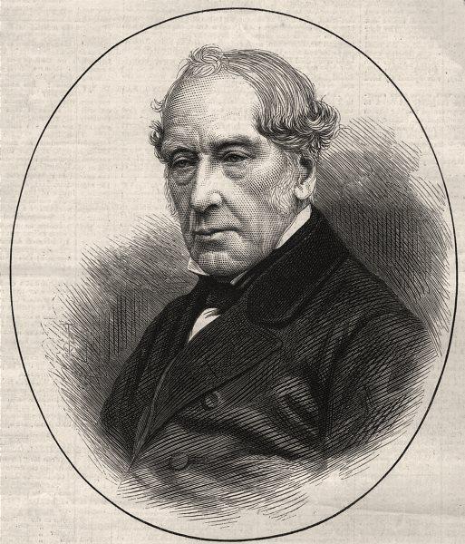 Associate Product The late Sir W. Fairbairn, Bart. Portraits, antique print, 1874