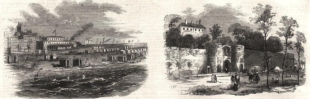 Associate Product Boulogne. Baths. Etablissement des bains. Porte de Doune. Pas-de-Calais, 1857