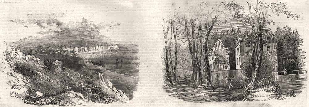 Associate Product Boulogne. Portel village; farm in the Vallee de Nacre. Pas-de-Calais, 1857