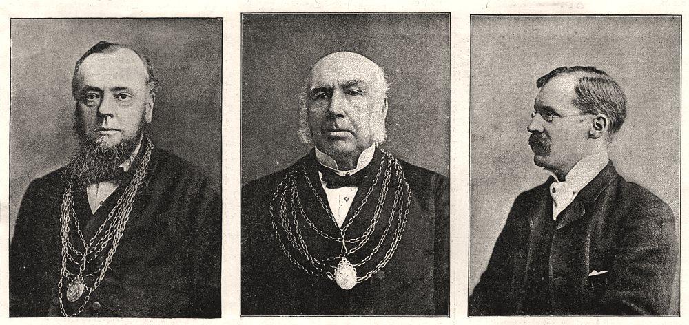 Associate Product Doncaster. Alderman Clark Mayor Stockil Sugden Town Clerk. Yorkshire, 1891