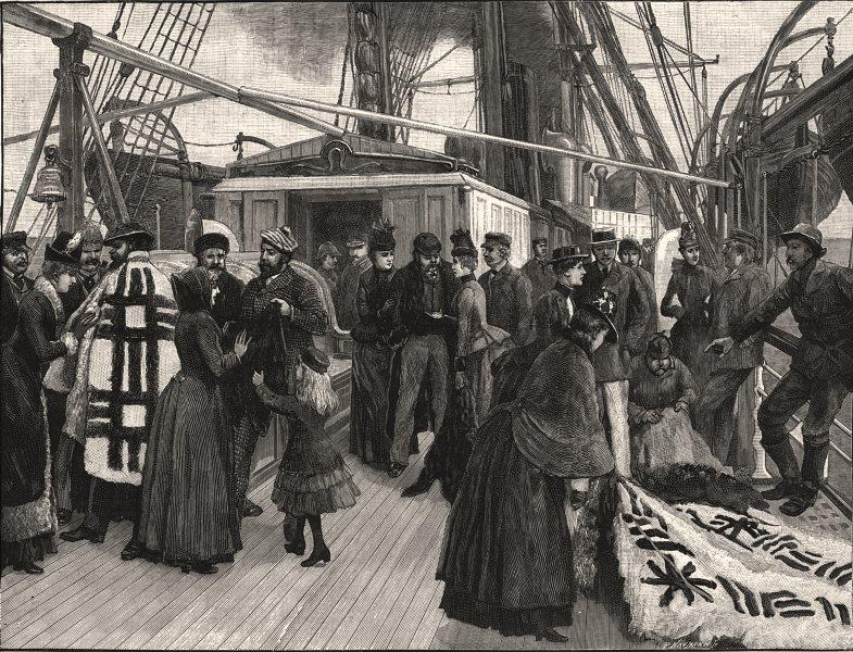 Associate Product Patagonian fur dealers onboard, Punta Arenas, Magellan Strait, Chile, 1889