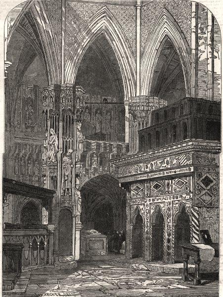 Associate Product Westminster Abbey - Edward the Confessor's Chapel. London, antique print, 1848