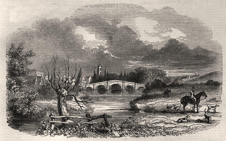Associate Product Melton Mowbray. Leicestershire, antique print, 1843