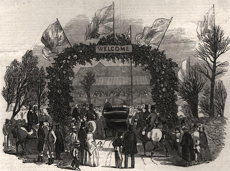 Associate Product The arch at Penshurst. Kent, antique print, 1848