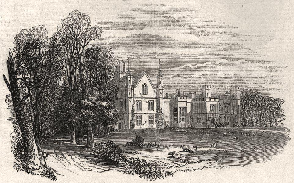 Associate Product South Park, the seat of Viscount Hardinge. Kent, antique print, 1848