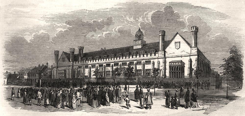 Associate Product The Tonbridge School tercentenary commemoration. Kent, antique print, 1853