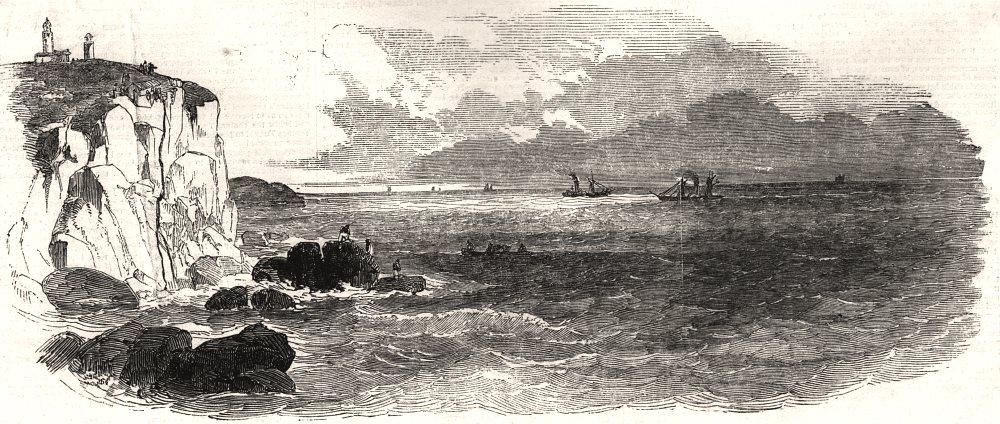 Associate Product The electric wire at Cap Gris Nez. Pas-de-Calais, antique print, 1850