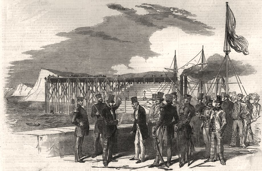 Associate Product The last official visit of the Duke to the works at Dover Harbour. Kent, 1852
