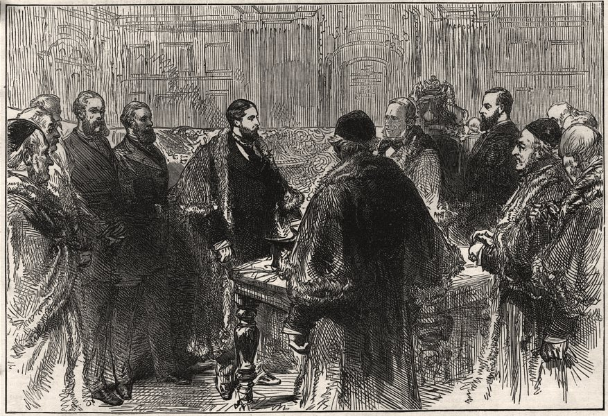 Associate Product Presenting the freedom of the Coachmakers Company to the Duke Of Edinburgh, 1873