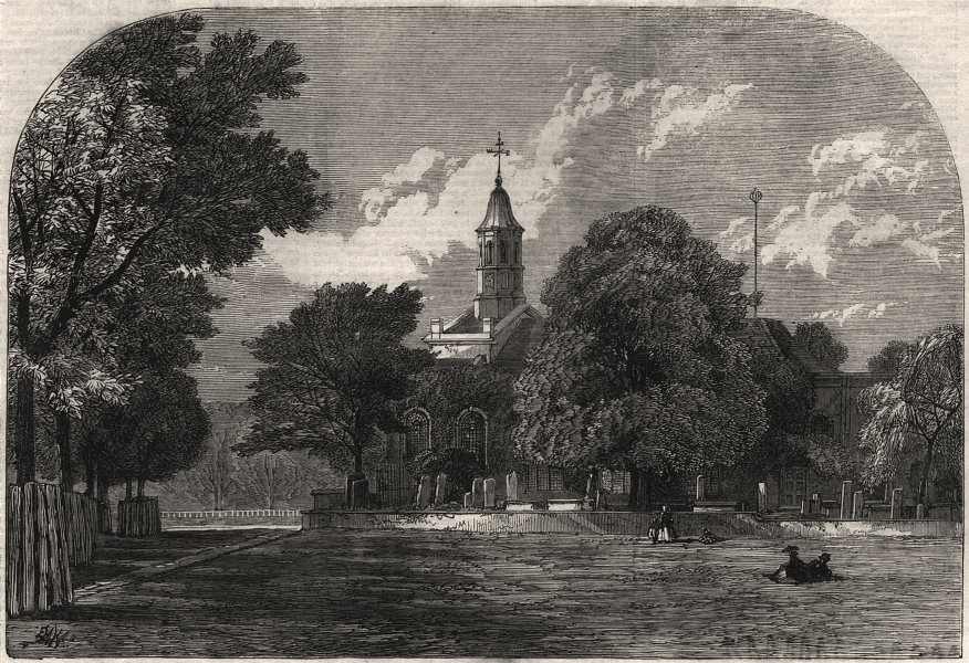 Associate Product Kew Church, where Princess Mary of Cambridge was married to Prince Teck, 1866