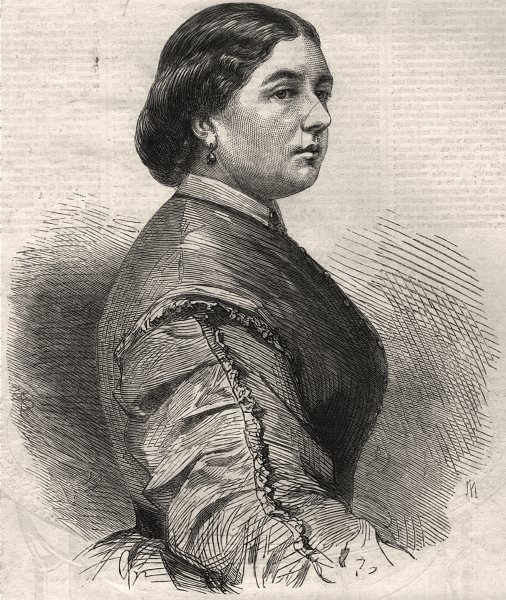 Associate Product H. R. H. Princess Mary of Cambridge. Cambridgeshire, antique print, 1866