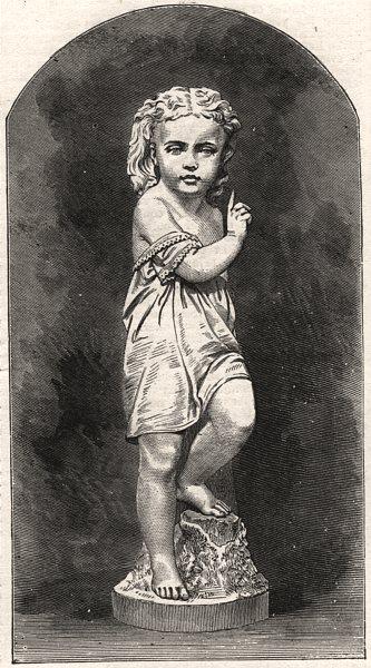 "Associate Product ""Hark"". Children, antique print, 1876"