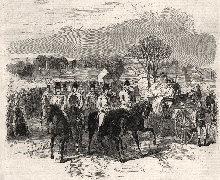 Associate Product The Royal Meet of the West Norfolk Hunt at Snettisham: going to cover, 1863