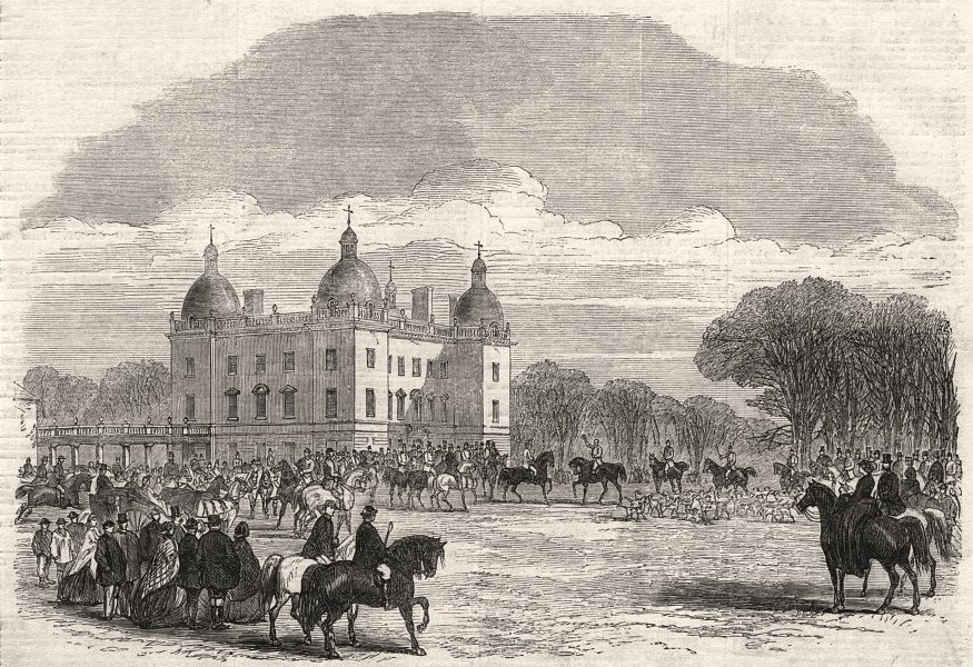 Associate Product Royal Norfolk Hunt meet at Houghton, seat of the Marquis Of Cholmondeley, 1863