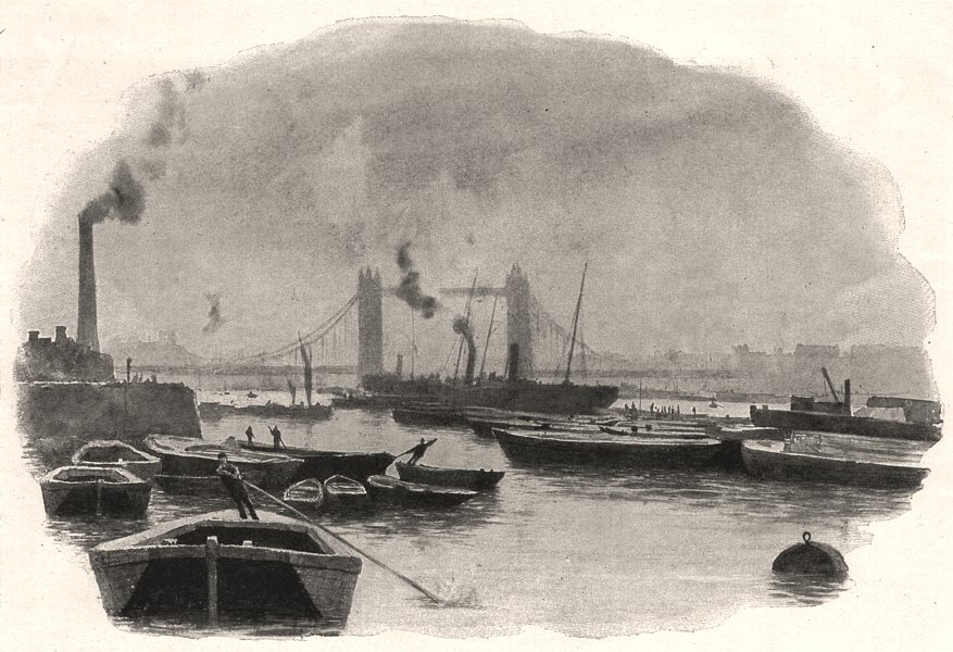 Associate Product The Thames: From the Tower to Iffley. The Tower Bridge. London, old print, 1898