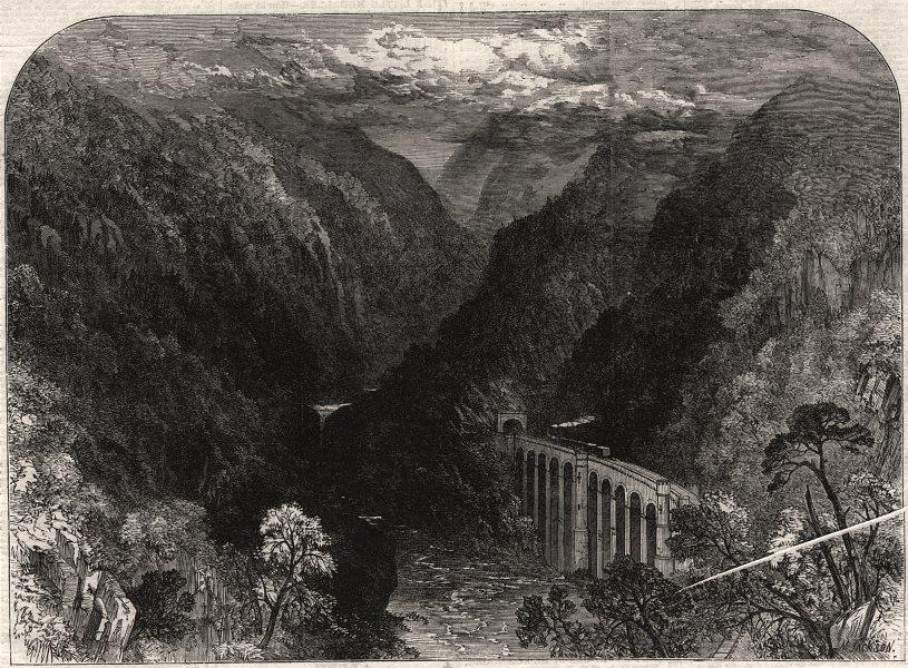 Associate Product Inverness and Perth Railway. Killiecrankie. Scotland, antique print, 1863