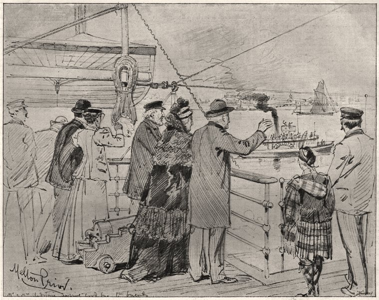 """Associate Product Opening of the Baltic Canal. Gladstone on board the """"Tantallon Castle"""", 1895"""