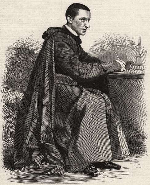 Associate Product Monsignore de Merode, lately the Pope's Minister of War. Vatican, print, 1865