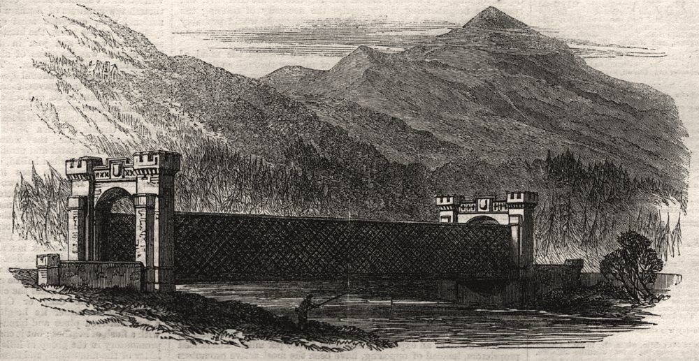 Associate Product Inverness and Perth Railway. Tilt viaduct. Scotland, antique print, 1863