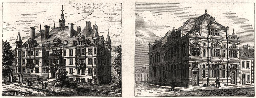 Associate Product North London Consumption Hospital, Hampstead; Cardiff Library & Art school, 1880