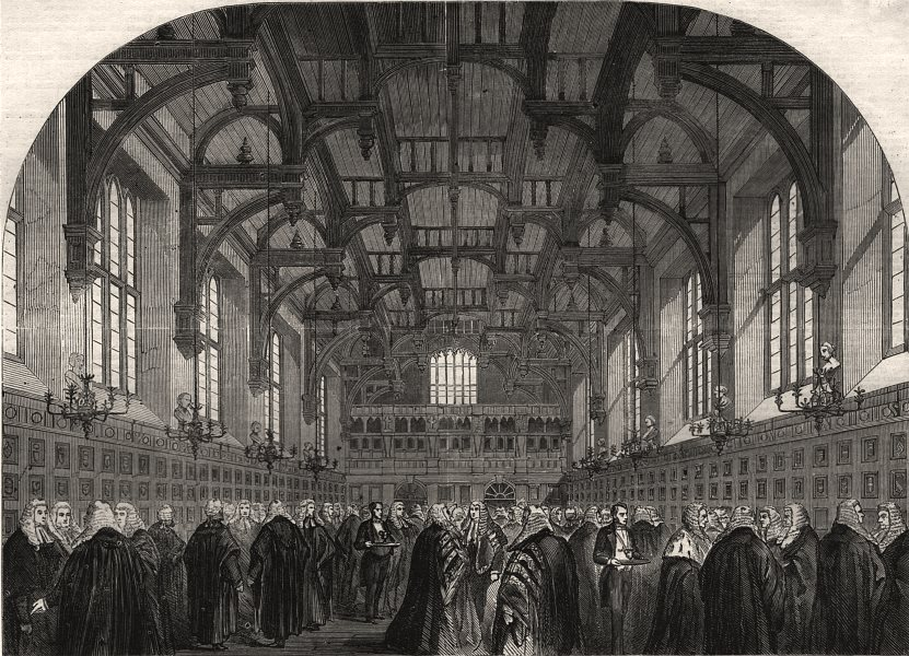 Associate Product The Lord Chancellor receiving the judges in the Middle Temple. London, 1862