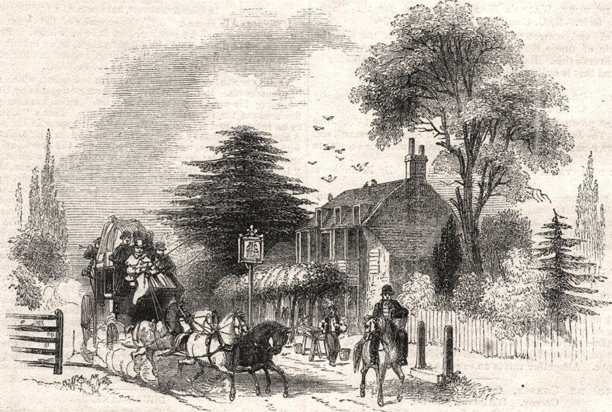 Associate Product Gad's Hill. Kent, antique print, 1843