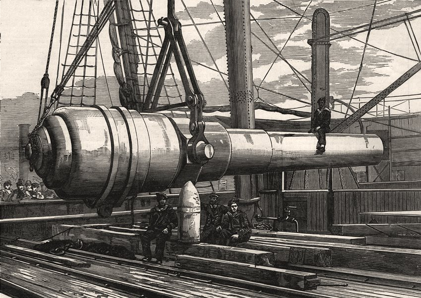 Associate Product Shipment of the 100 ton gun at the Elswick Ironworks, Newcastle-on-Tyne, 1889