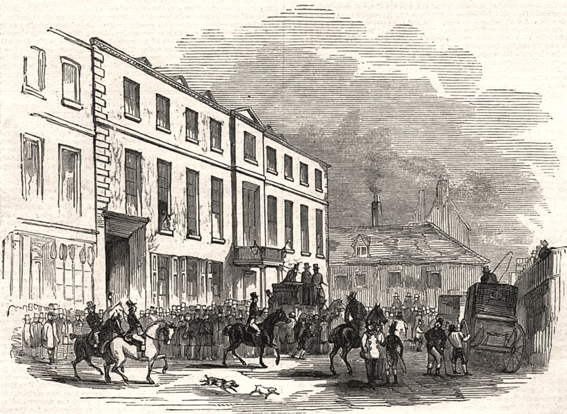 Associate Product Northamptonshire grand military steeple-chase. The George, before the race, 1844