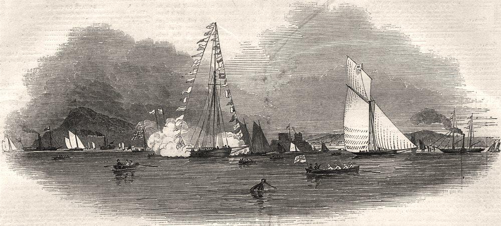 Associate Product Weston-Super-Mare Regatta. Somerset, antique print, 1845