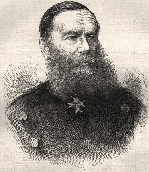 Associate Product The war: General Vogel von Falkenstein. Portraits, antique print, 1870