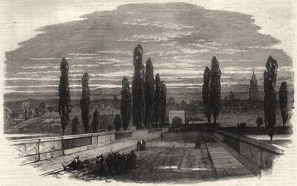 Associate Product The war: town of Mezieres. Ardennes, antique print, 1870