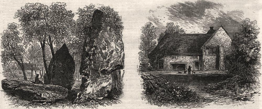 Associate Product Druidical circles, Stanton Drew; Vallis Manor House remains, Bath Somerset, 1864