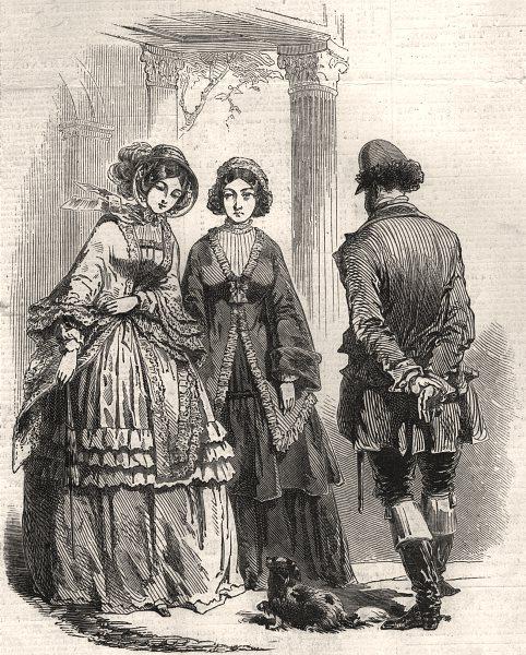 Associate Product Paris fashions for October, antique print, 1848