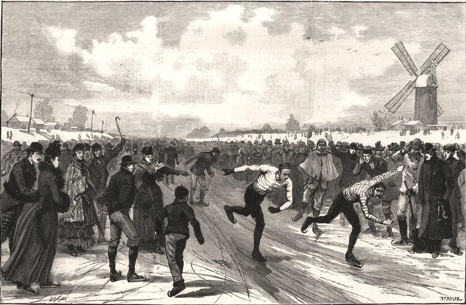 Associate Product Skating match at Littleport, Cambridgeshire: final heat J Smart & T Wells, 1891