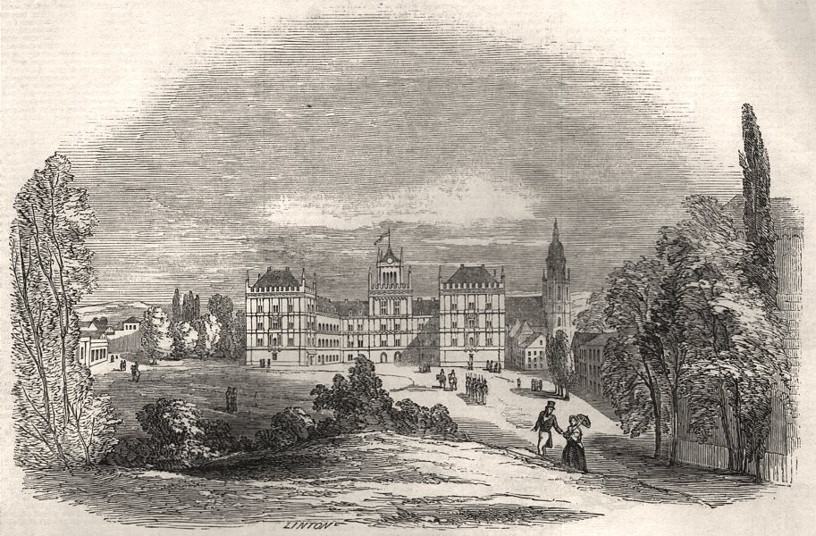 Associate Product The Palace of Ehrenburg, Coburg - from Prince Albert's drawing. Bavaria, 1845
